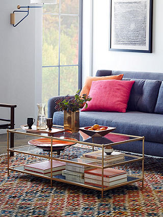 Buy west elm Terrace Coffee Table, Antique Brass Online at johnlewis.com