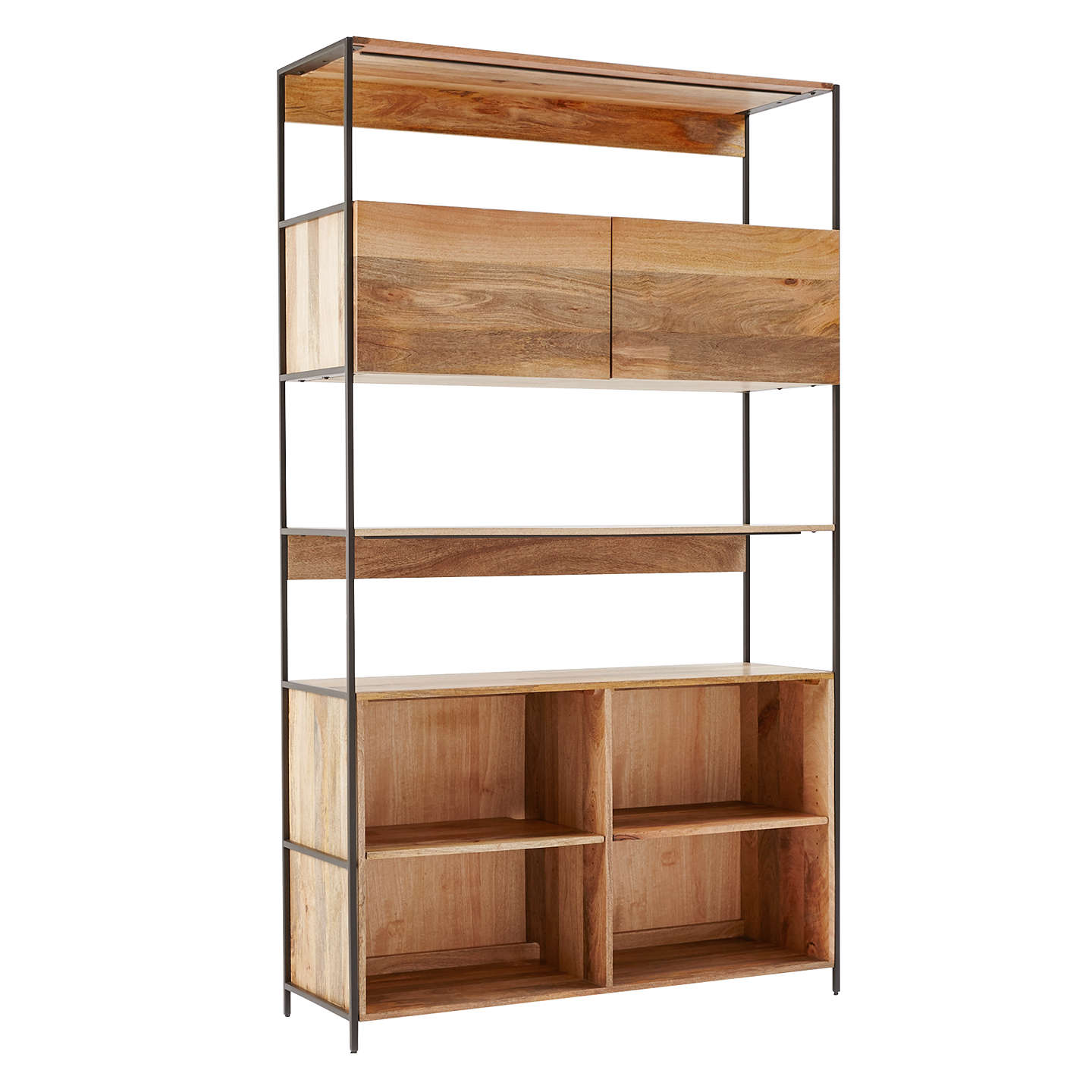 product ksiazki tif bookcase interiors hifi wooden na regal bookcases m with closed vox door en