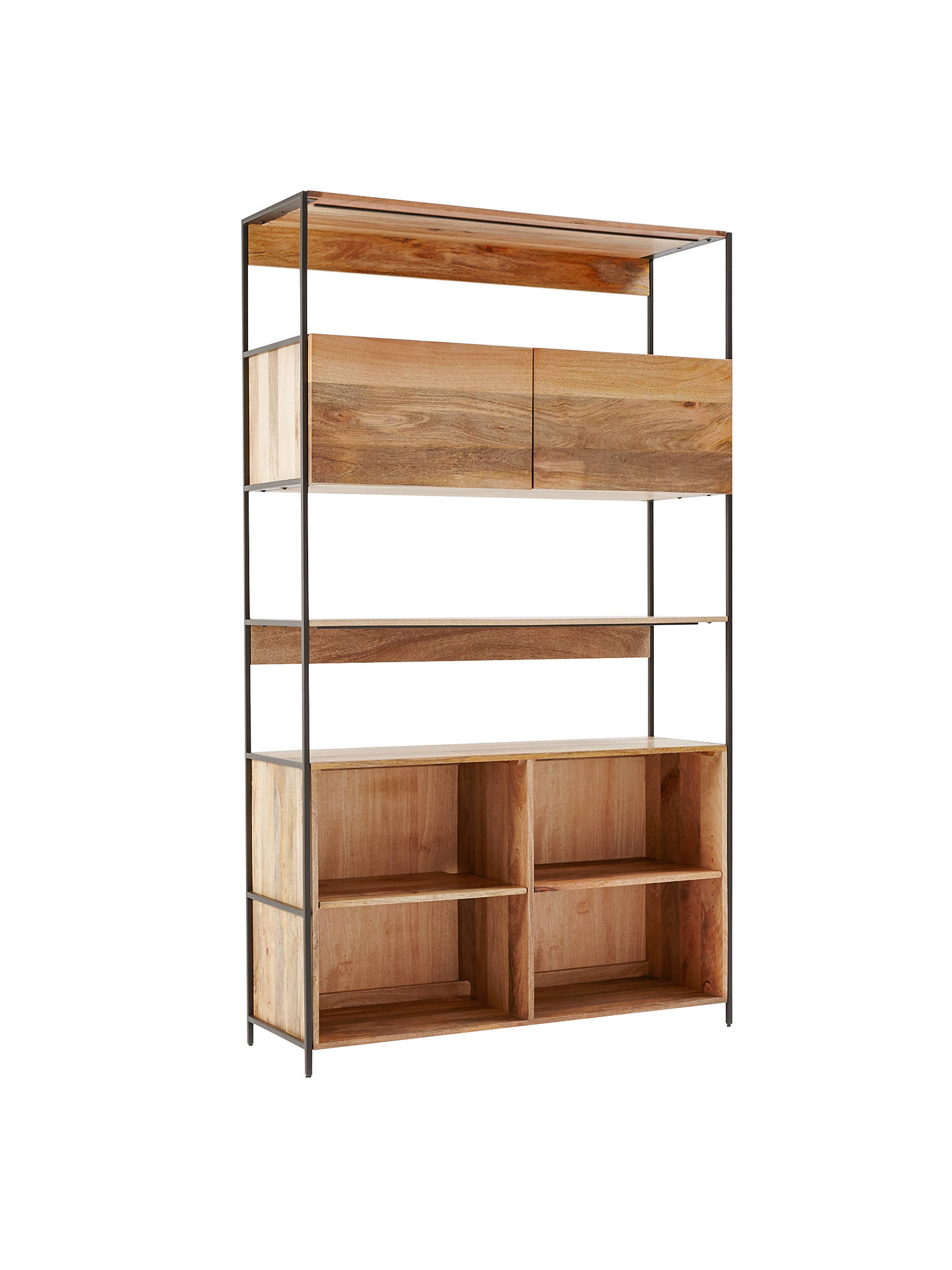 West Elm Industrial Modular 124cm Open And Closed Storage