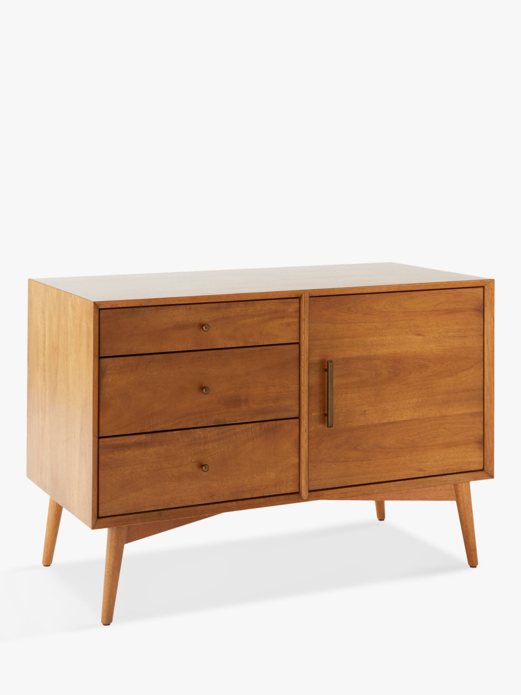 West Elm Mid Century Small Sideboard Acorn Fsc Certified Eucalyptus At John Lewis Partners