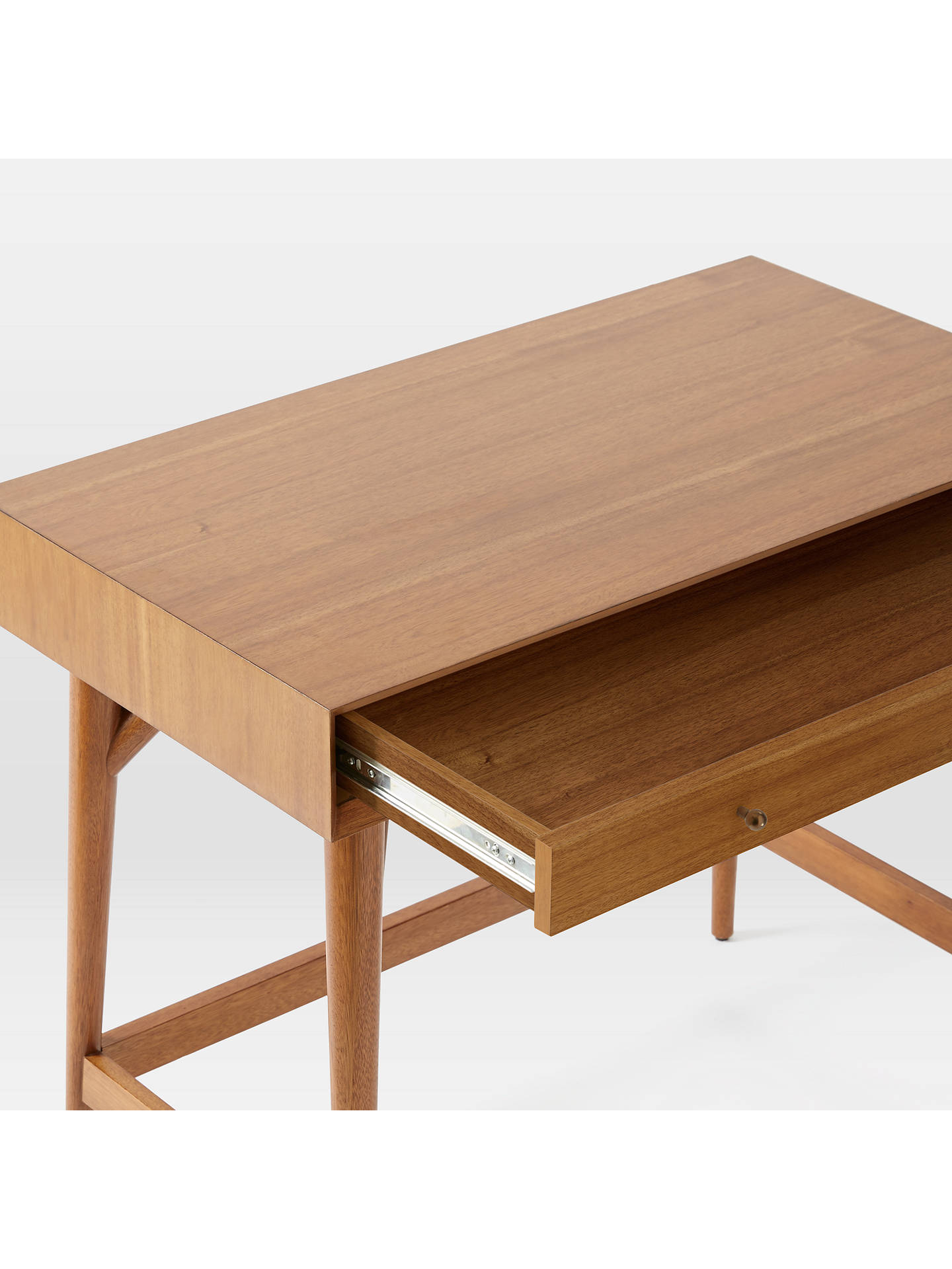 West Elm Mid Century Mini Desk Acorn Online At Johnlewis