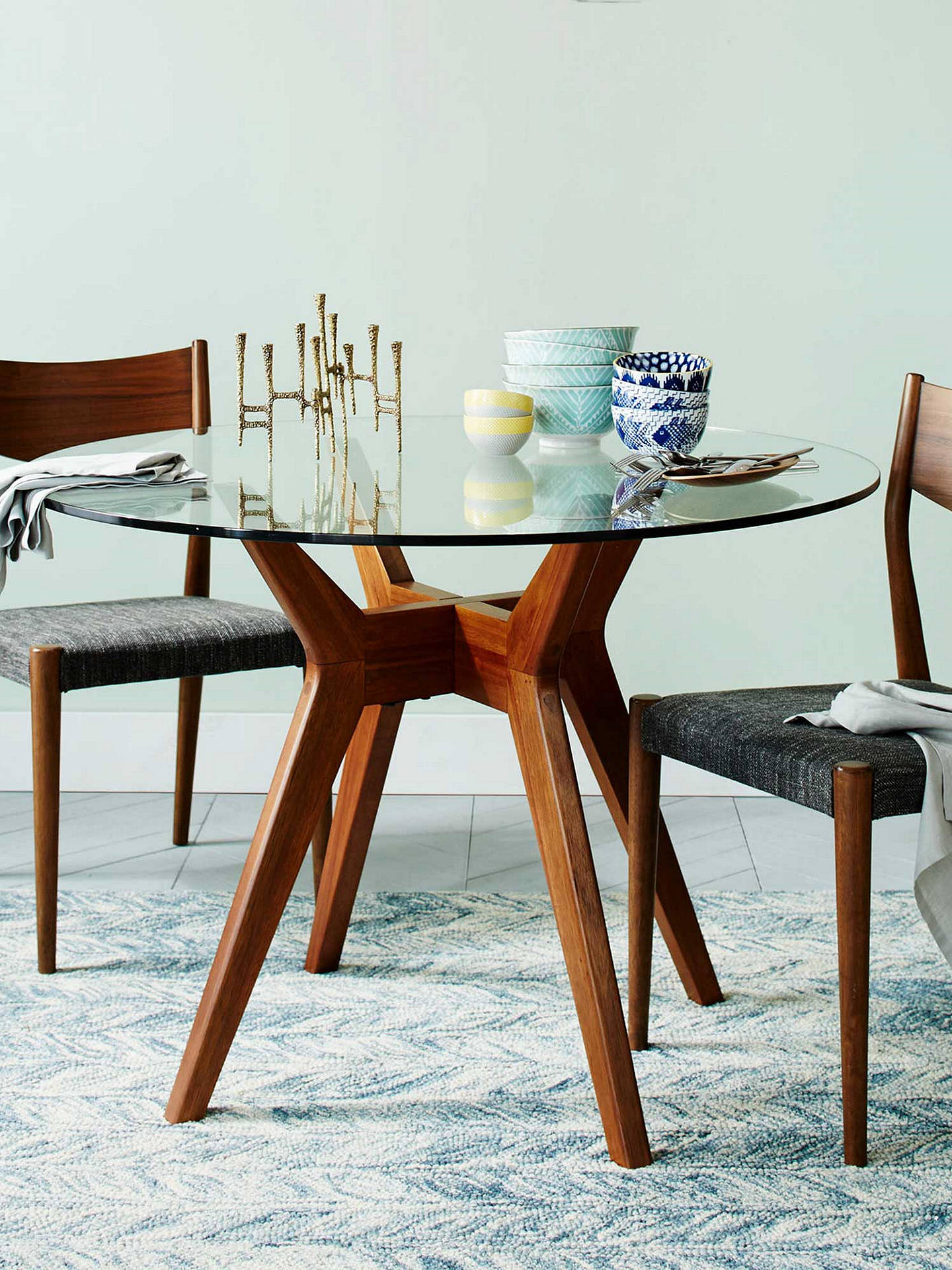 West Elm Jensen 4 Seater Round Dining Table At John Lewis