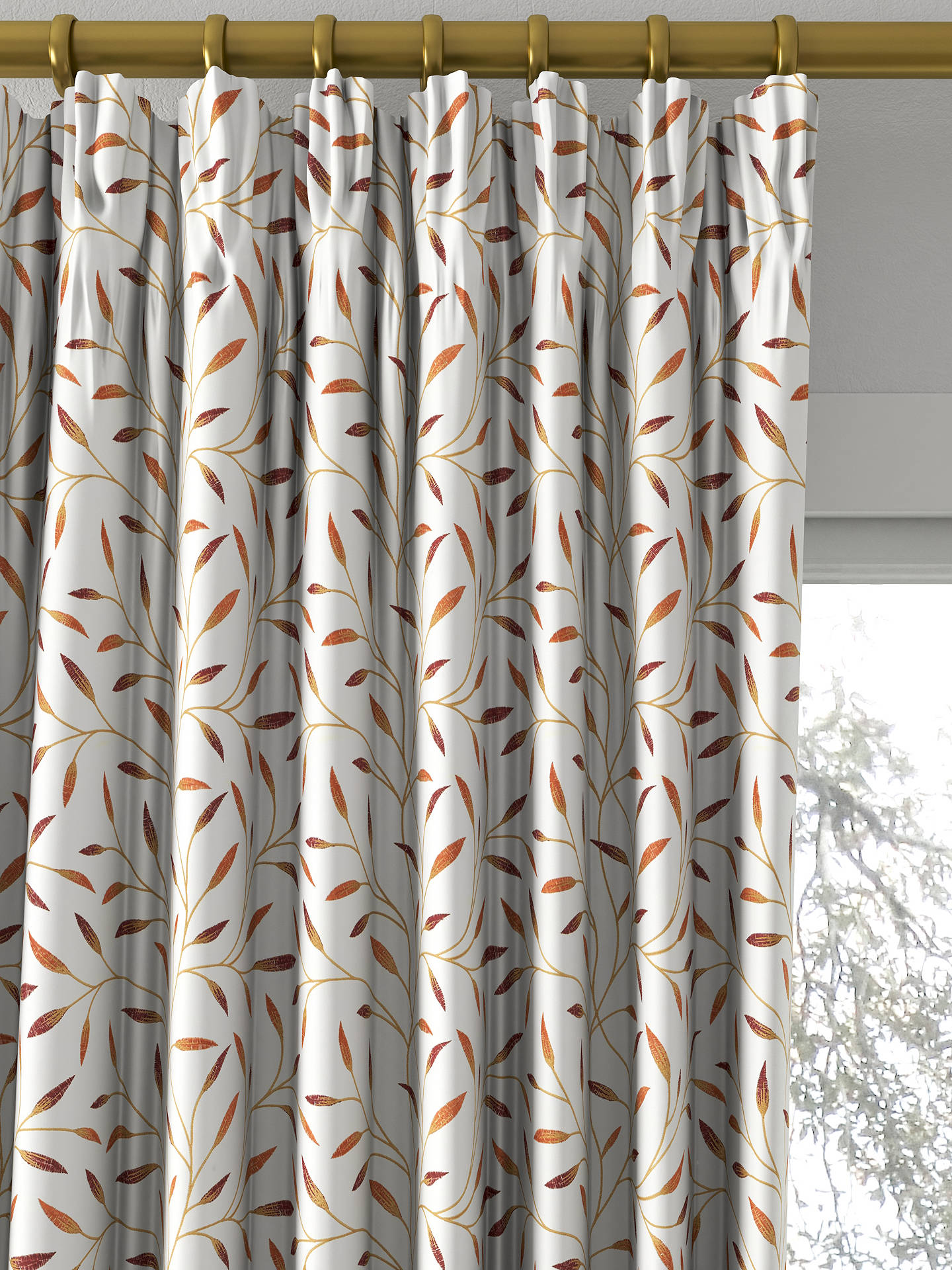 BuyJohn Lewis Partners Christine Made To Measure Curtains Red Nut Online At Johnlewis