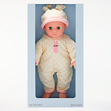 Buy John Lewis My First Baby Girl Doll Online at johnlewis.com