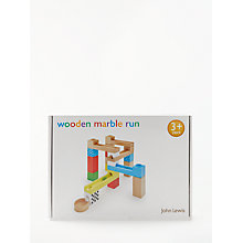 Buy John Lewis Wooden Marble Run Online at johnlewis.com