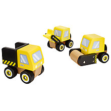 Buy John Lewis 3 Wooden Trucks Set Online at johnlewis.com