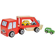 Buy John Lewis Wooden Car Transporter Playset Online at johnlewis.com