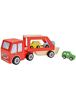 John Lewis & Partners Wooden Car Transporter Playset