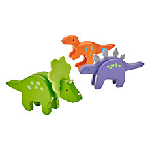 Buy John Lewis Wooden Dinosaur Pack Online at johnlewis.com