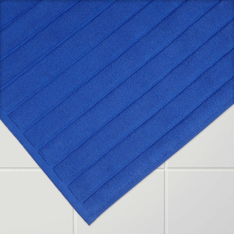 Buyhouse By John Lewis Rib Weave Bath Mat, Cobalt Online