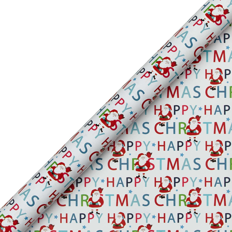 Buyjohn Lewis Grand Tour Santa Gift Wrap, 4M, Red Online