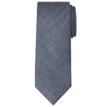 Buy John Lewis Made in Italy Plain Wool Tie, Navy Online at johnlewis.com