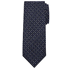 Buy JOHN LEWIS & Co. Made in Italy Wool Spot Tie, Navy/White Online at johnlewis.com