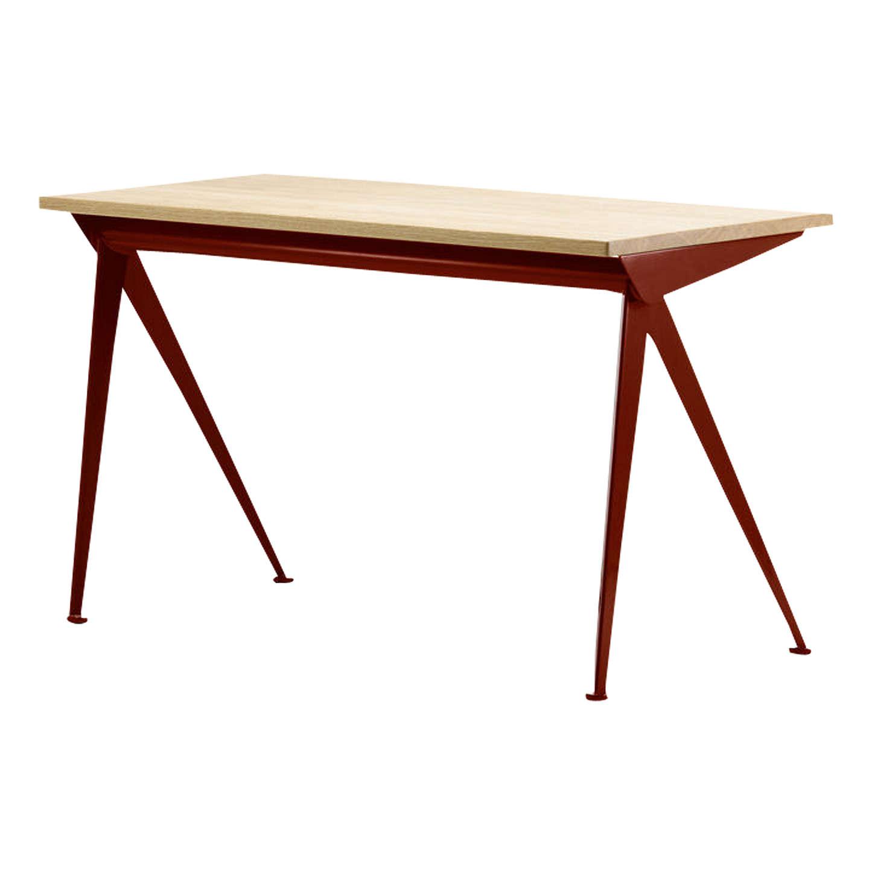 Vitra Compas Direction Oak Desk An Red At Johnlewis Com