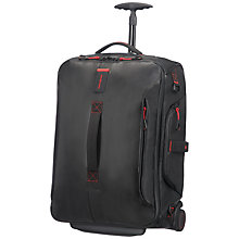 Buy Samsonite Paradiver Light 55cm Wheeled Duffle Backpack, Black Online at johnlewis.com