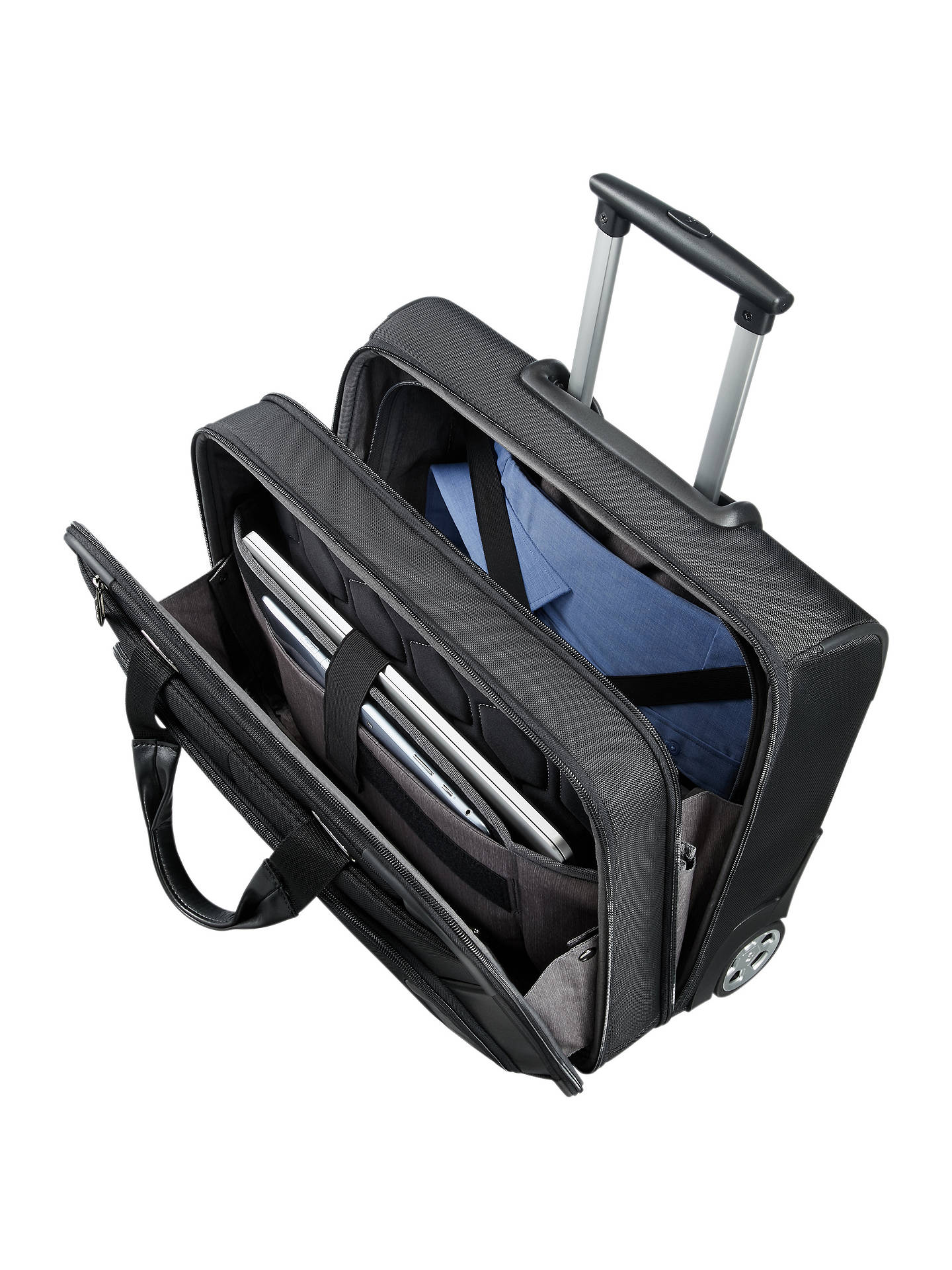 Buy Samsonite XBR 40cm Rolling Tote Case, Black Online at johnlewis.com
