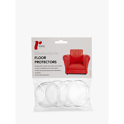 Russel Acrylic Floor Protectors, Pack of 4, 40mm