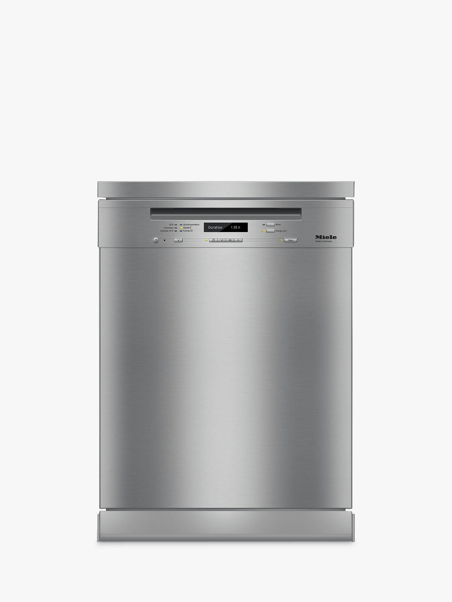 Buy Miele G6730 SC Freestanding Dishwasher, Clean Steel Online at johnlewis.com