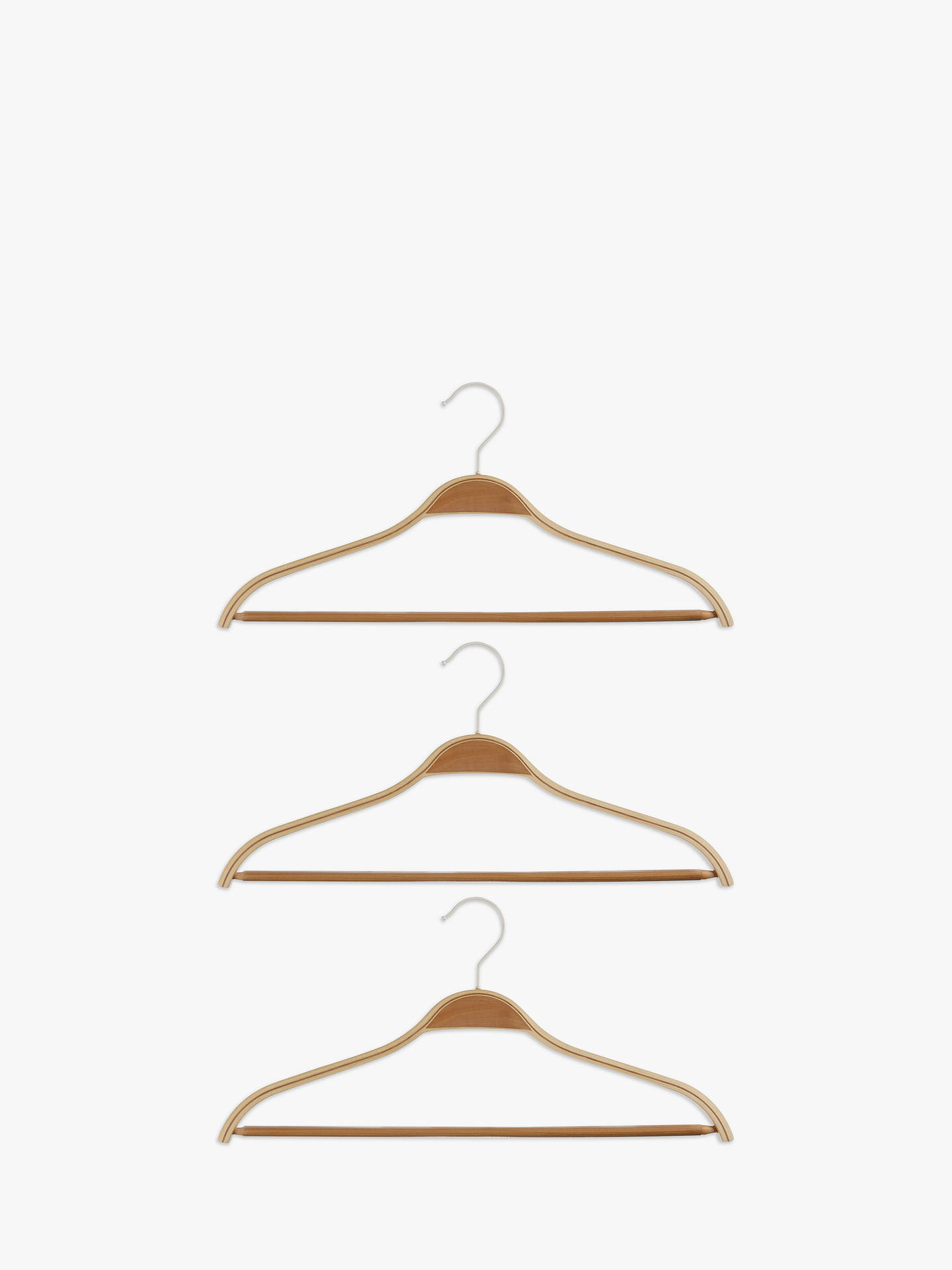 Buy John Lewis & Partners Scandi Suit Hangers, Set of 3 Online at johnlewis.com
