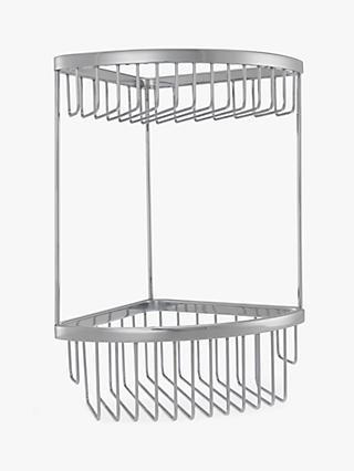 John Lewis Partners New Classic 2 Tier Shower Corner Basket Large