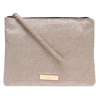 Carvela Kollude Clutch Bag, Gold