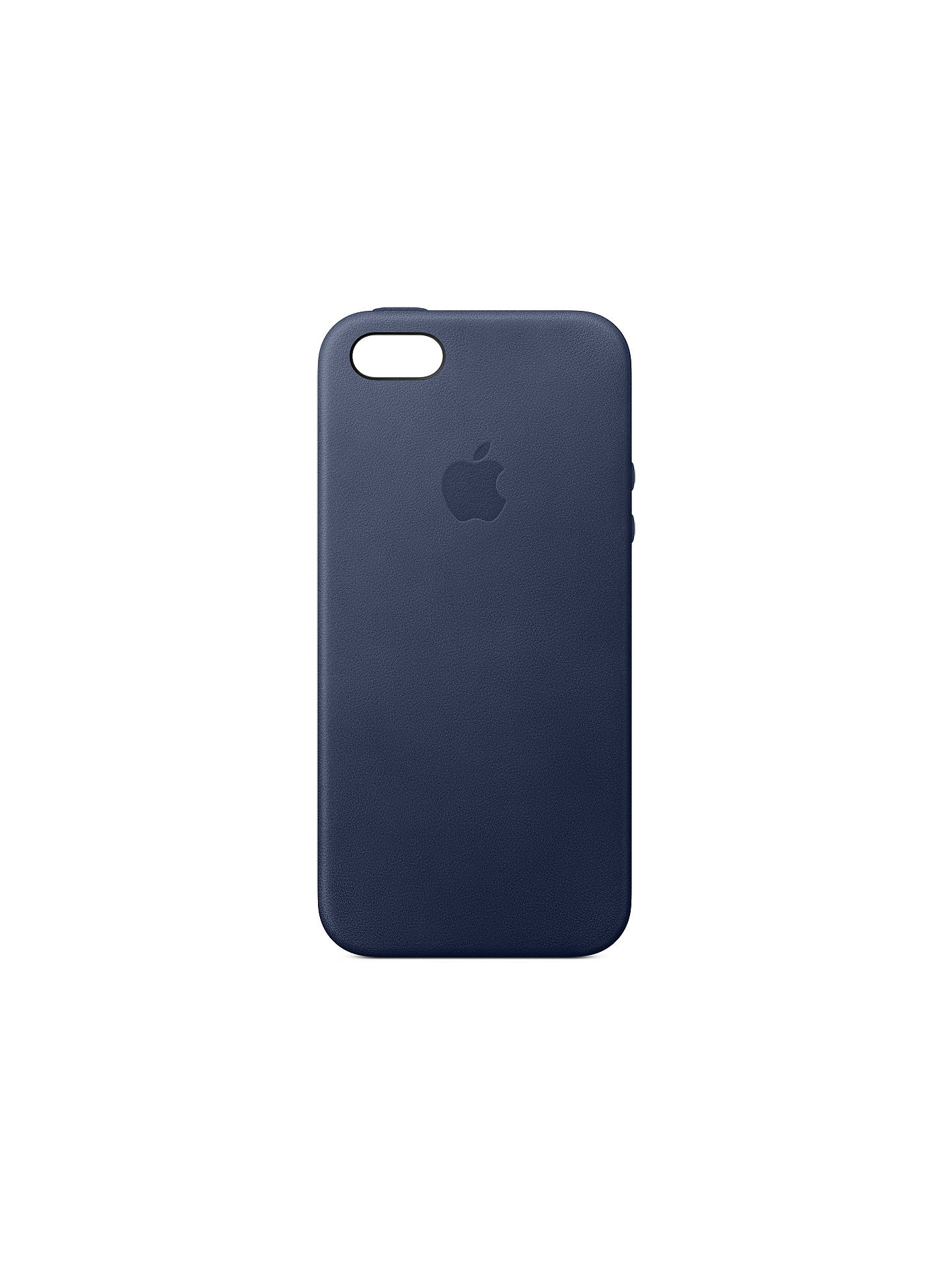 BuyApple Leather Case for iPhone SE, Navy Online at johnlewis.com