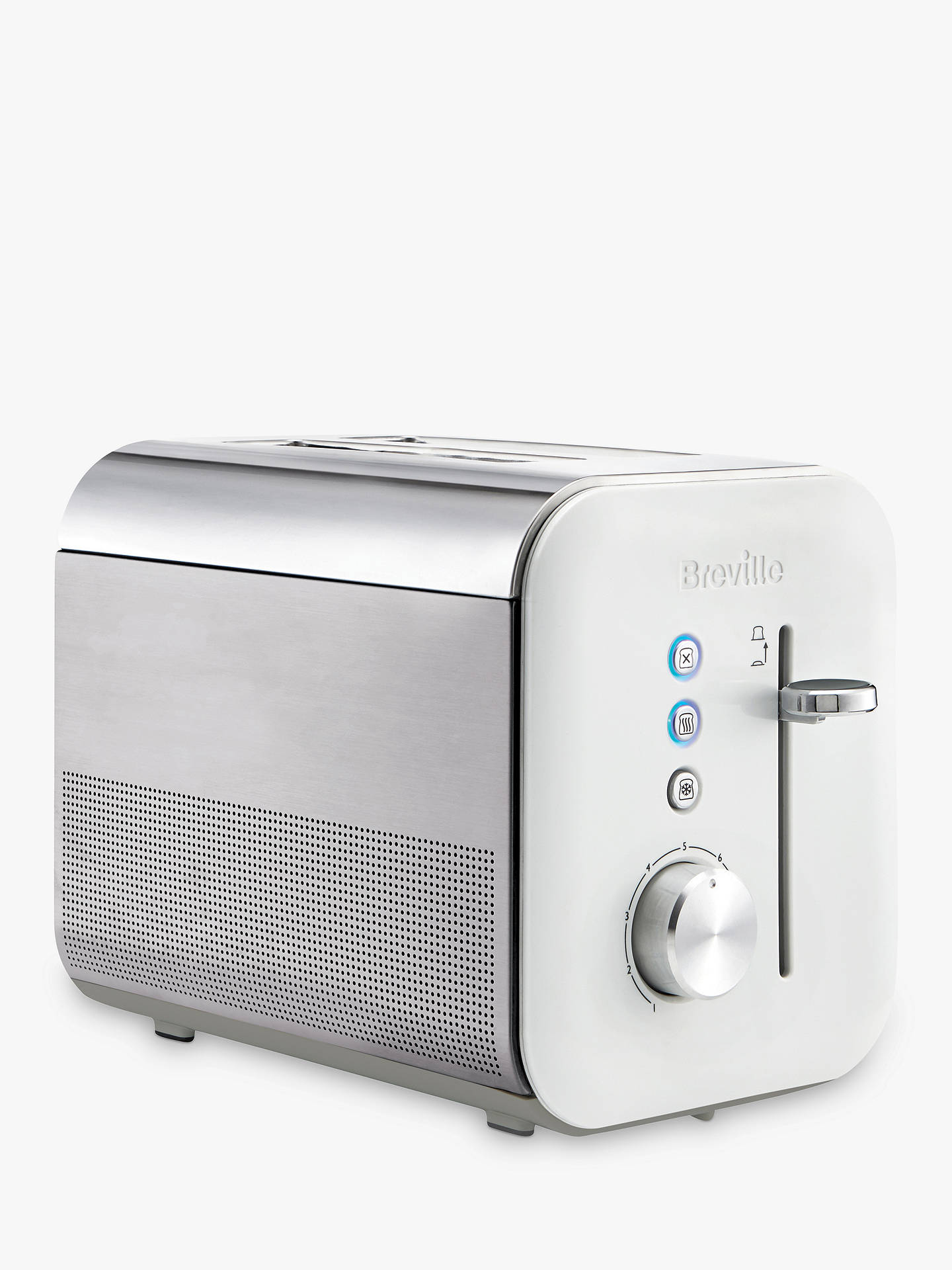 Buy Breville VTT686 High Gloss 2-Slice Toaster, White Online at johnlewis.com