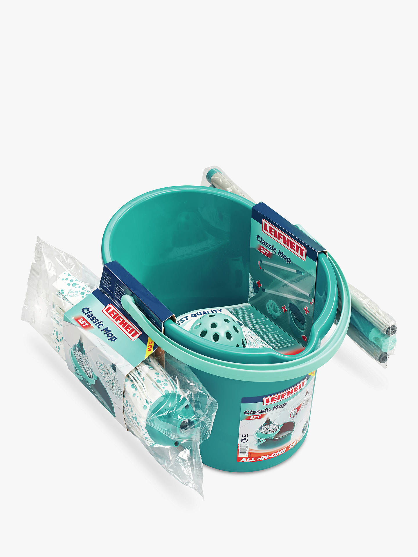 Buy Leifheit Classic Mop and Bucket Set Online at johnlewis.com