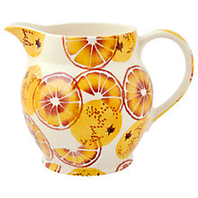 Buy Emma Bridgewater Black Toast 'Oranges' Half Pint Jug, Orange, 1L Online at johnlewis.com
