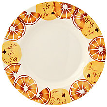 Buy Emma Bridgewater Black Toast 'Oranges' Plate, Orange, Dia.28cm Online at johnlewis.com