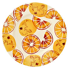 Buy Emma Bridgewater Black Toast 'Oranges' Plate, Orange, Dia.22cm Online at johnlewis.com