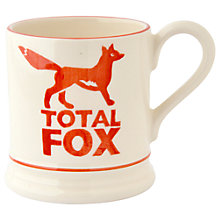 Buy Emma Bridgewater Total Fox Half Pint Mug, Orange/White, 310ml Online at johnlewis.com