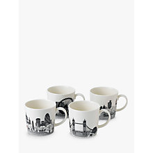 Buy Royal Doulton Charlene Mullen 'London Calling' Mugs, Set of 4 Online at johnlewis.com