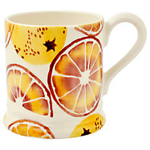 Buy Emma Bridgewater 'Oranges' Half Pint Mug, Orange, 284ml Online at johnlewis.com