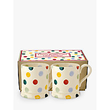 Buy Emma Bridgewater Polka Dot Mug, Set of 2, 190ml Online at johnlewis.com