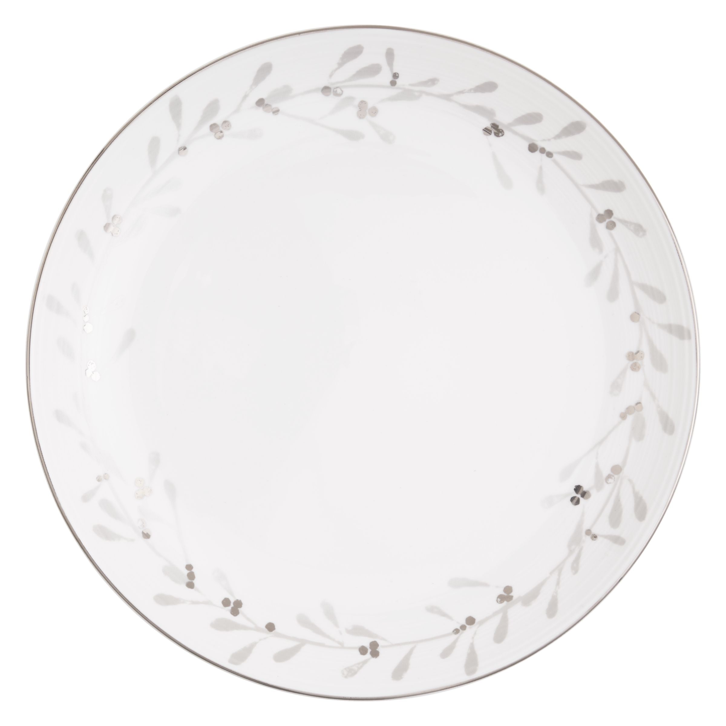 John Lewis Partners Snowshill Wreath 27 5cm Plate White Silver At John Lewis Partners