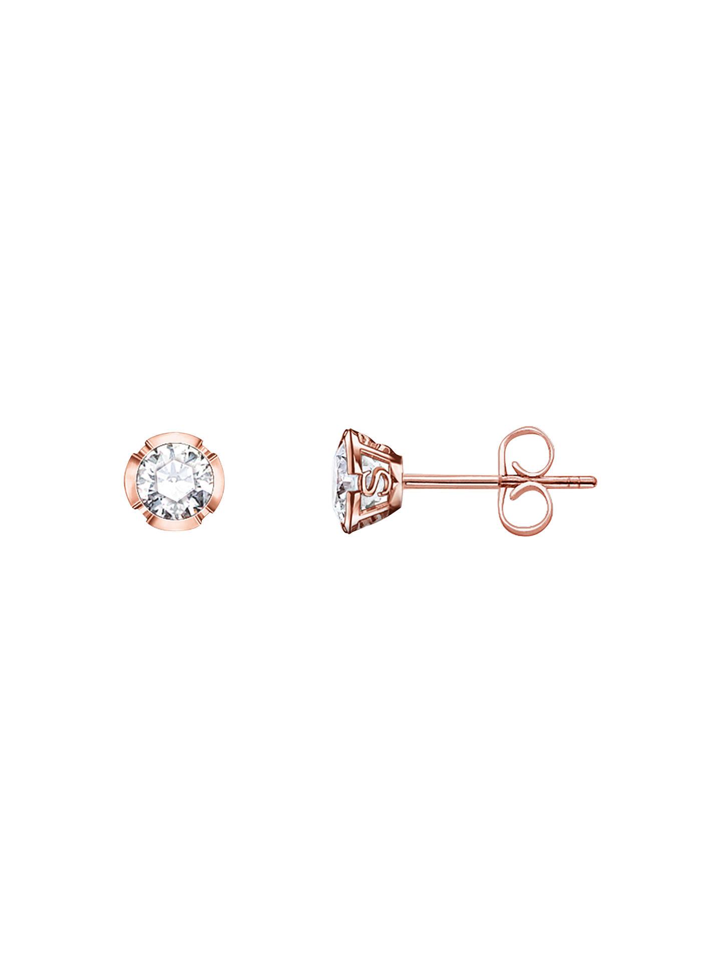 963d18198 Buy Thomas Sabo Glam & Soul Zirconia Stud Earrings, Rose Gold Online at  johnlewis.