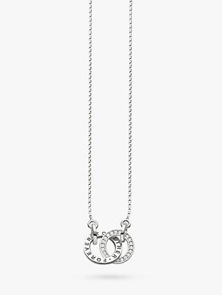 THOMAS SABO Glam & Soul Together Forever Necklace, Silver
