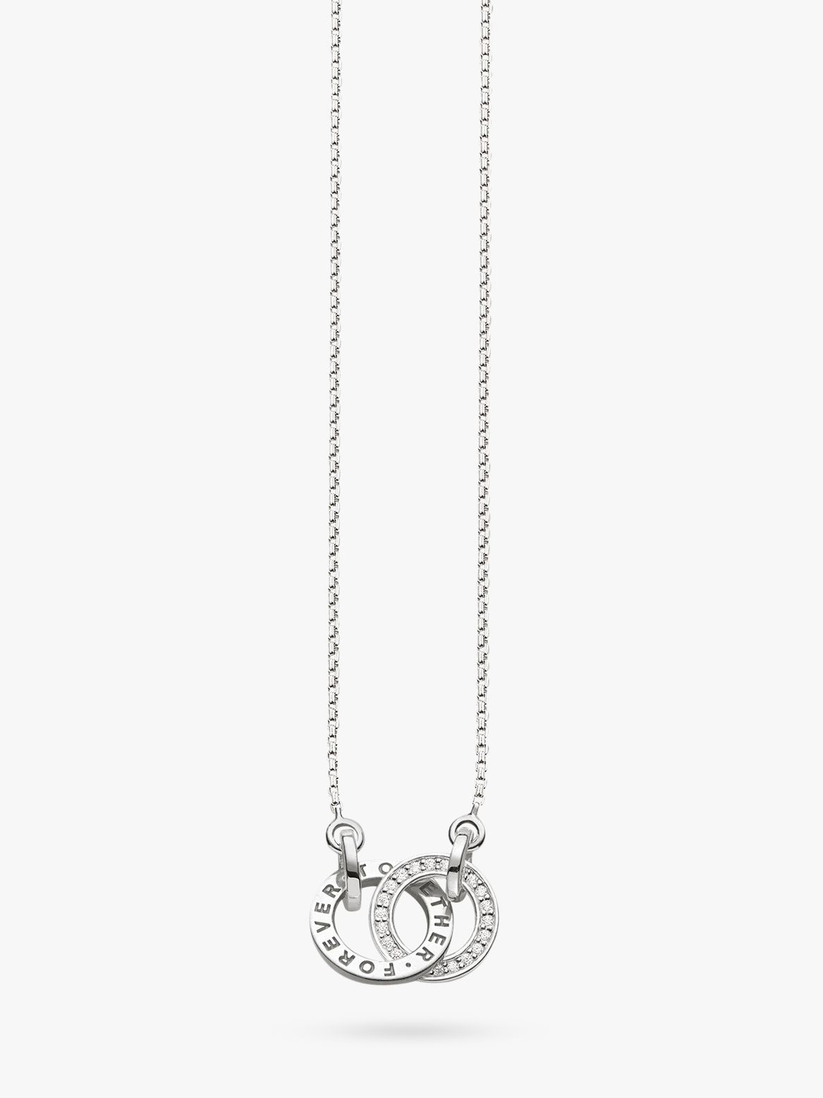 Thomas Sabo THOMAS SABO Glam & Soul Together Forever Necklace, Silver