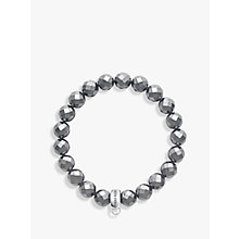 Buy Thomas Sabo Charm Club Faux Hematite Bracelet, Black Online at johnlewis.com