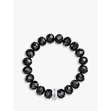 Buy Thomas Sabo Charm Club Obsidian Bracelet, Black Online at johnlewis.com