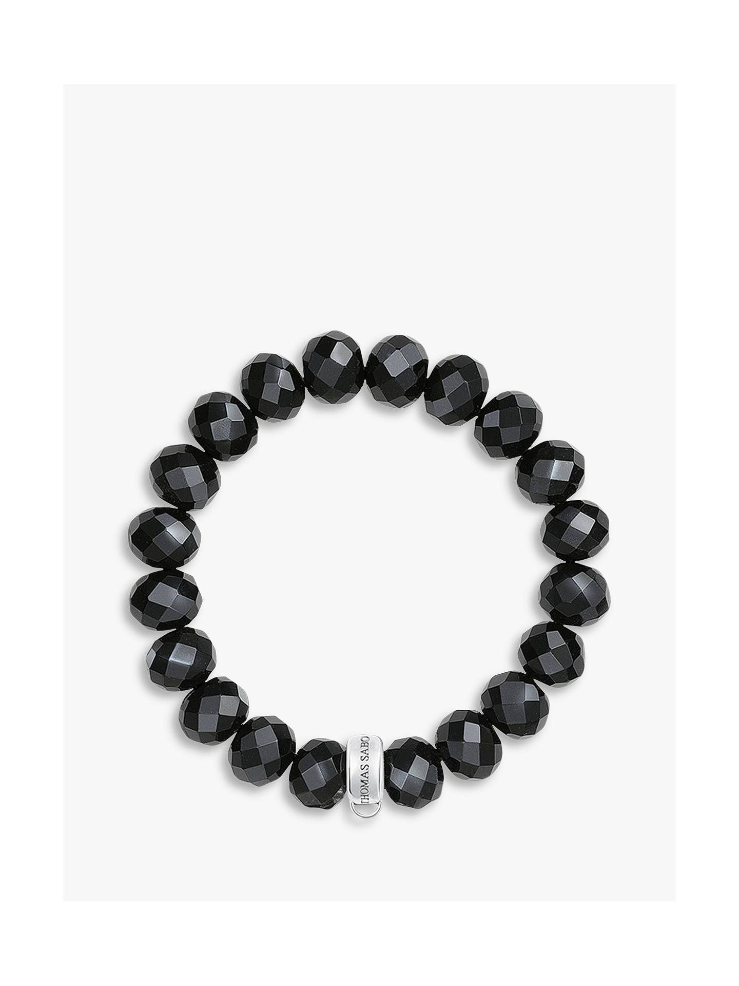 Thomas Sabo Charm Club Obsidian Bracelet Black L Online At Johnlewis