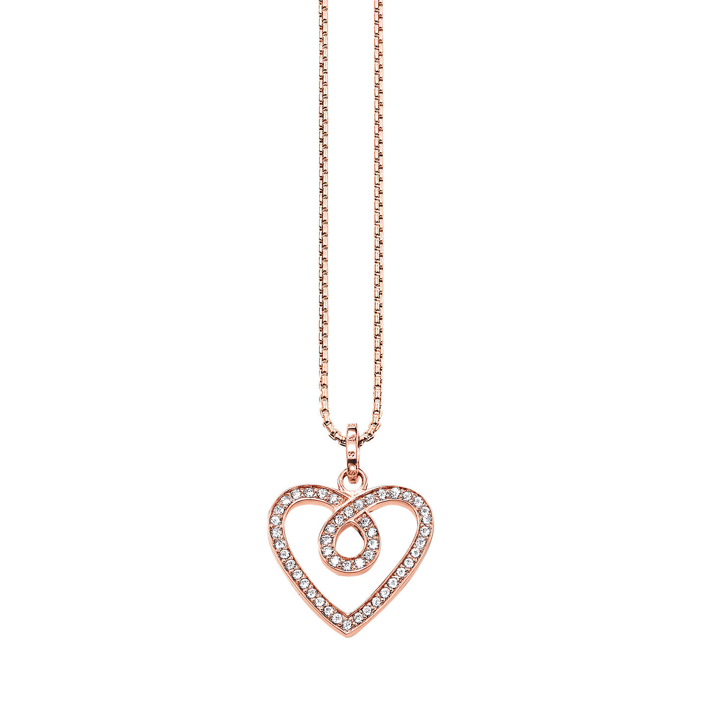 john chunky lewis johnlewis online necklace mini chain main com heart pdp rsp gold buyibb personalised at ibb