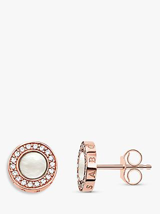 THOMAS SABO Glam & Soul Pearl and Zirconia Stud Earrings
