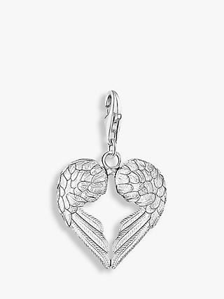 THOMAS SABO Charm Club Angel Wings Heart Charm, Silver
