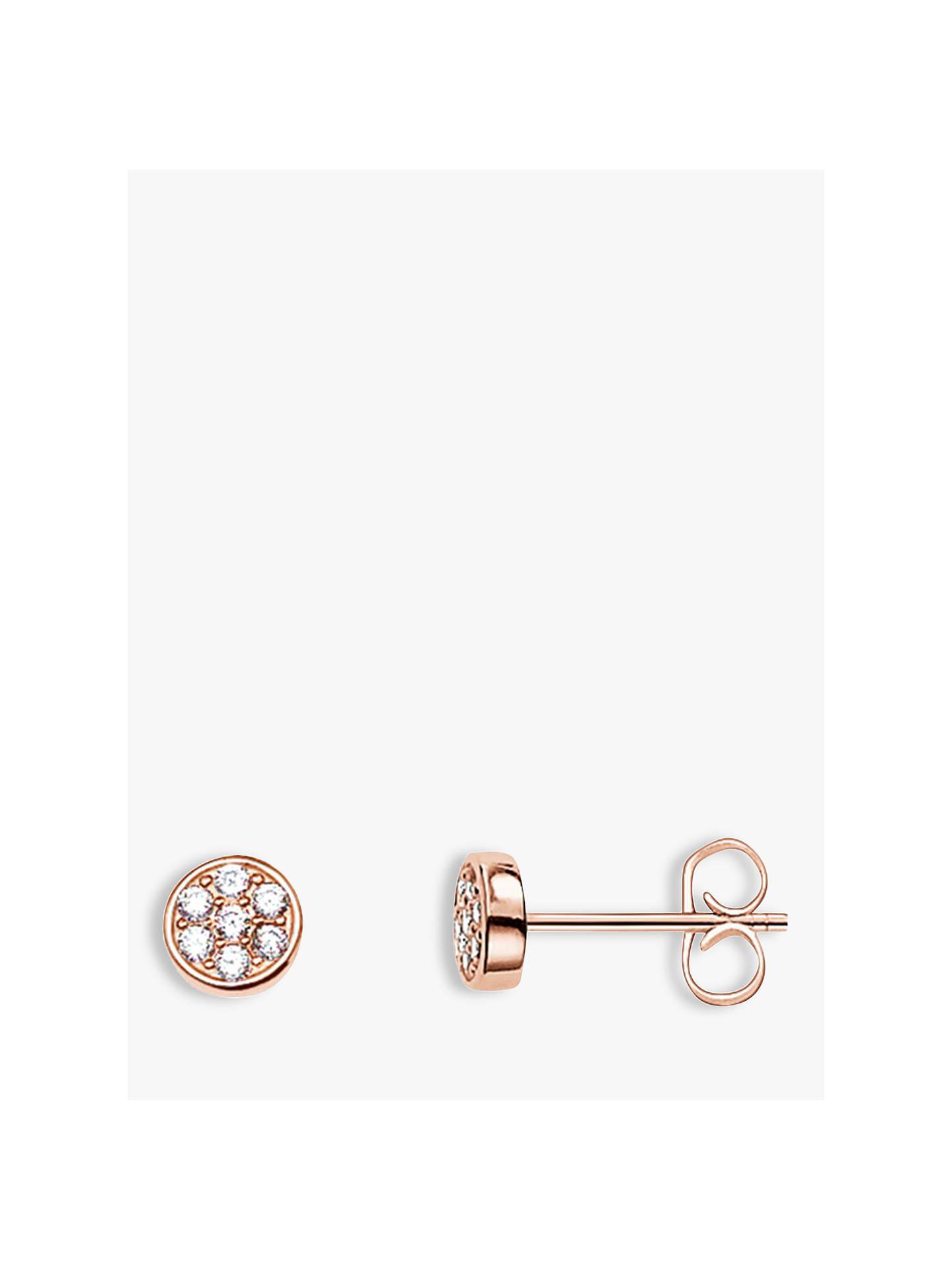 54fd71e7aec0f THOMAS SABO Sparkling Circles Stud Earrings, Rose Gold