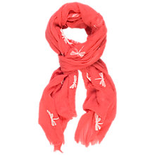 Buy Chesca Dragonfly Print Scarf, Coral Online at johnlewis.com