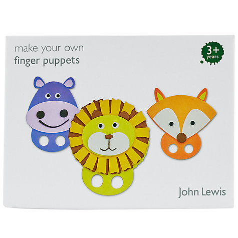 Buy John Lewis Make Your Own Finger Puppets Kit Online at johnlewis.com