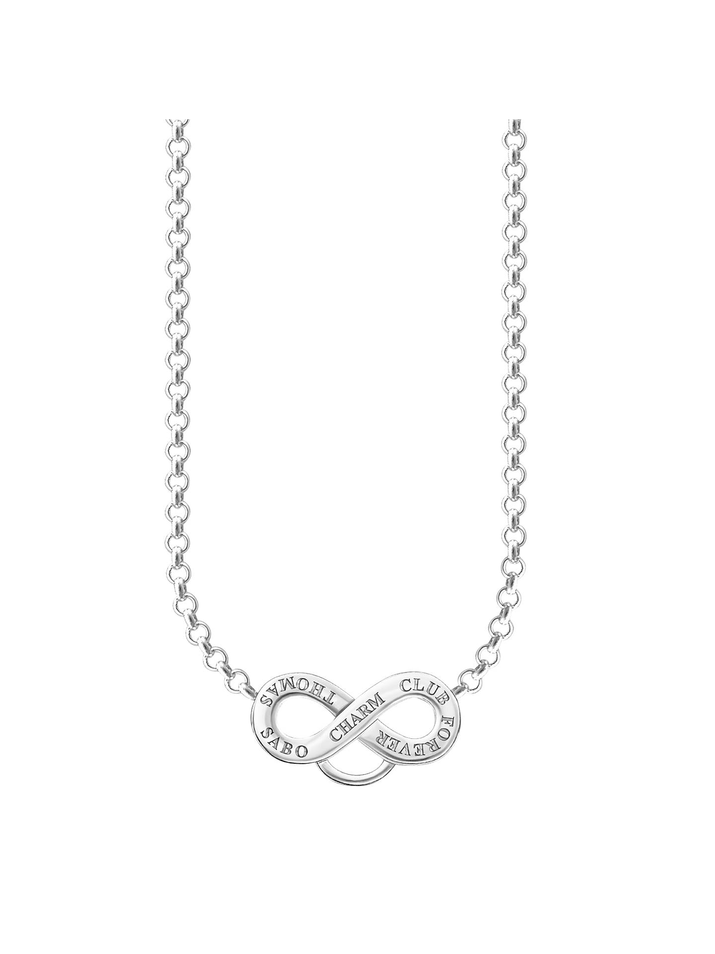 Thomas Sabo Charm Club Infinity Symbol Necklace Silver At John