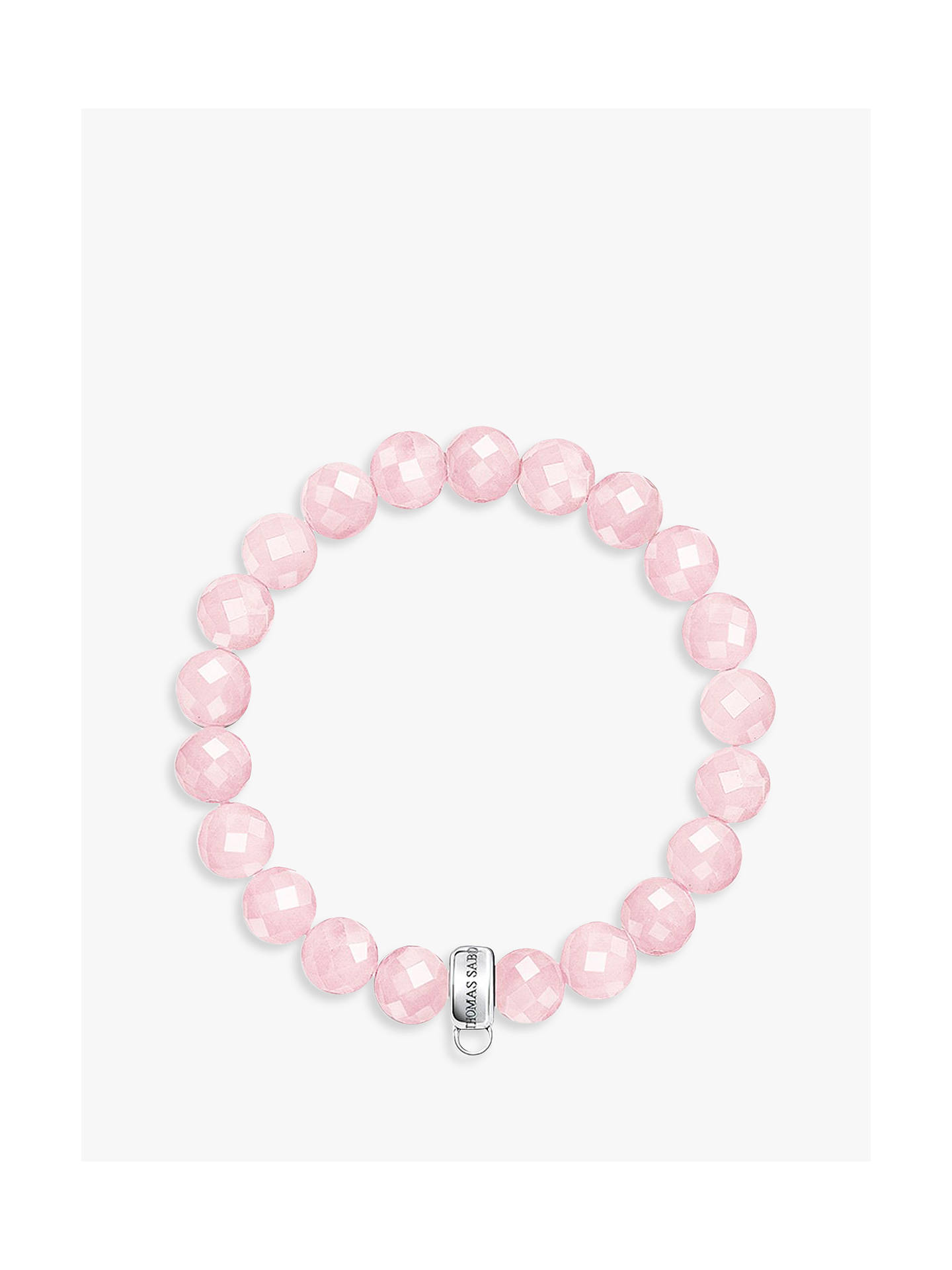 thomas sabo charm club rose quartz bracelet pink at john lewis partners. Black Bedroom Furniture Sets. Home Design Ideas